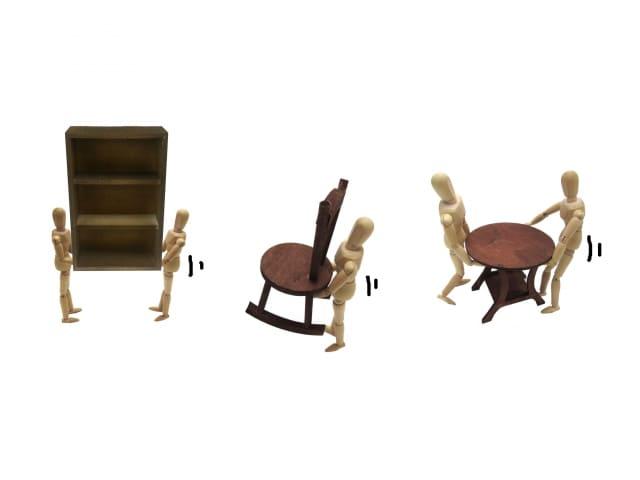 家具家電などの単品での回収、その後の家具移動について